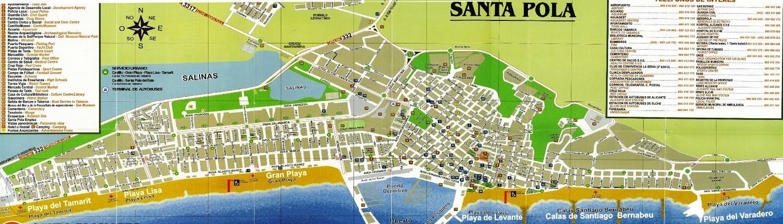 карта города санта пола